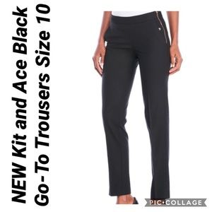 Kit and Ace Black Go-To Trousers Size 10